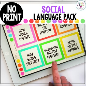 No Print Social Language Pack