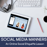 No Print Social Media Manners for Middle School & High School