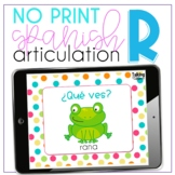 No Print Spanish Speech Therapy Articulation R, RR, and Blends