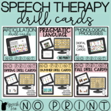 No Print Speech Therapy Drill Cards BUNDLE