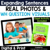 Speech Therapy Expanding Sentences with Real Photos | Story Starters