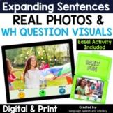 Expanding Sentences   Real Photos   No Print Speech Therap