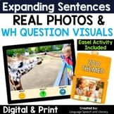 No Print Speech Therapy Expanding Sentences | Real Photos | Zoo Animals