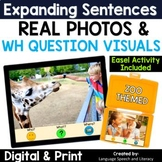 WH Questions Speech Therapy   Print or Digital   TPT Easel