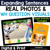 WH Questions Speech Therapy | Print or Digital | TPT Easel