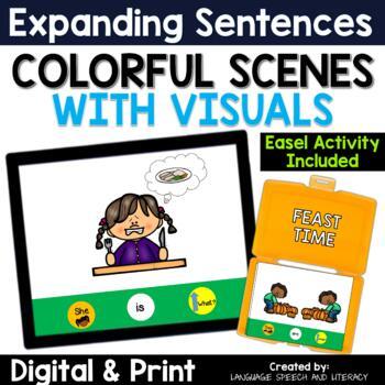 No Print Speech Therapy Thanksgiving Pronouns Verbs & Simple Sentences