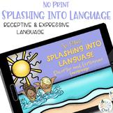 No Print Receptive & Expressive Language - Summer Edition