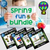 No Print Spring Activity Bundle Pronouns Verbs Wh Questions