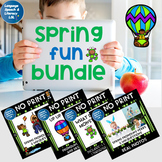 No Print Speech Therapy Spring Activity Bundle | Scenes and Real Photos