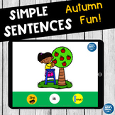 No Print Speech Therapy Expanding Sentences Scenes in the Fall