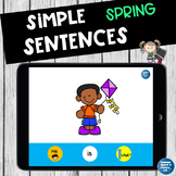 No Print Speech Therapy Spring Pronouns and Verbs    Distance Learning