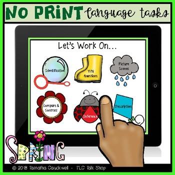 Language Tasks No Print: Spring