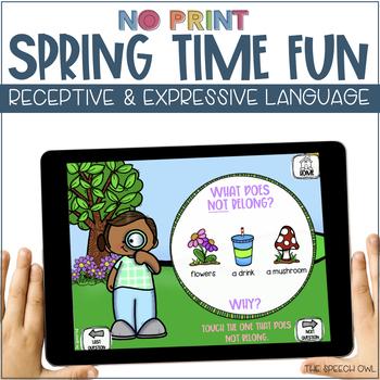 No Print Receptive & Expressive Language - Spring Edition