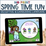 No Print Language - Spring Edition | speech therapy | dist
