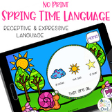 No Print Language - Spring Edition | speech therapy | dist