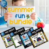 No Print Speech Therapy Activities Bundle | Summer