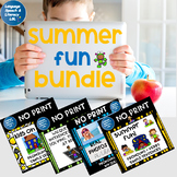 No Print Speech Therapy Activities Bundle | Summer