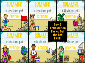 NO PRINT Summer Articulation MEGA BUNDLE