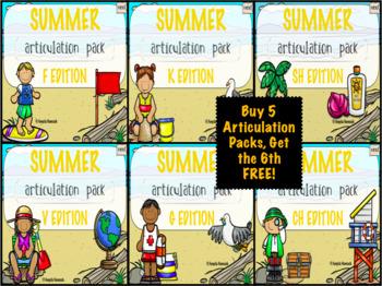 NO PRINT Summer Articulation MEGA BUNDLE