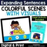 No Print Summer Fun Pronouns Verbs & Simple Sentences Teletherapy