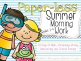 No-Prep Summer Literacy and Math Morning Work