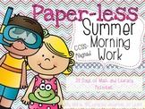 No-Prep Summer Literacy and Math Morning Work (Grades 1-2)