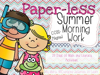 No-Prep Summer Literacy and Math Morning Work (Grades 1-2)