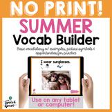 No Print Summer Vocabulary Builder