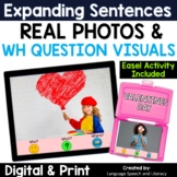 No Print  Speech Therapy Valentine's Day Expanding Sentences  | Real Photos