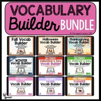 NO Print Vocabulary Builder Growing Bundle