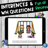 No Print Speech Therapy Language Scenes at Recess | Teletherapy