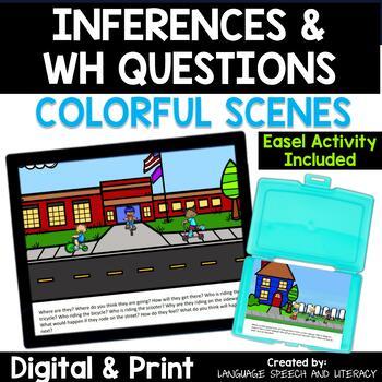 No Print Wh Questions Inferences Pronouns Descriptions With Kids On Vehicles