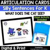 No Print Articulation & Alliteration of the K Sound Speech Therapy Intervention