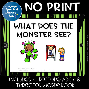 No Print  - What Does the Monster See? Articulation & Alliteration of M Sound.