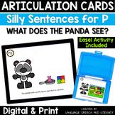 No Print Articulation & Alliteration of the P Sound Speech Therapy Intervention