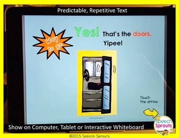 Wheels On The Bus No Print  Speech Therapy  Interactive Story