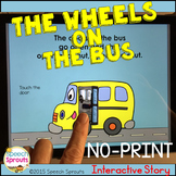 Wheels On The Bus No Print Speech Therapy Interactive Story - Distance learning