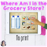 Where in the Grocery Store Categories No Print Speech Ther