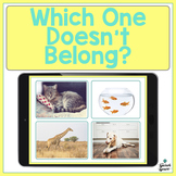 No Print: Which One Doesn't Belong? A Categorization Activ