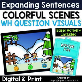 No Print Winter Sports Activity Bundle Pronouns Verbs Wh Questions