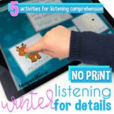 No Print Winter Listening Comprehension Activities