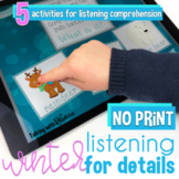 No Print Winter Listening Comprehension Activities for Spe