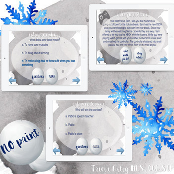 No Print Interactive Winter Themed Pragmatic Problem Solving FREEBIE