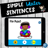 No Print Winter Pronouns Verbs Wh Questions and Simple Sentences 2