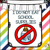No-Print and Interactive Social Story I Do Not Eat School Supplies