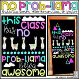 No Prob-Llama Alpaca Themed Bulletin Board, Door Decor, or Poster