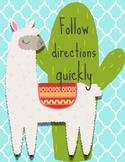 No Prob-Llama Whole Brain Rules, Cactus and Llama Classroom Rules
