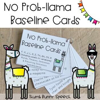 No Prob-llama Baseline Cards: F, V, J, L, S, Z, TH, SH, CH, R