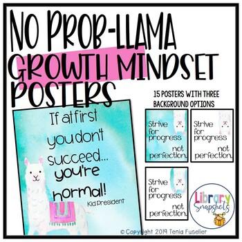 No Prob-llama Growth Mindset Poster Set