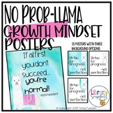 No Prob-llama Growth Mindset Poster Set